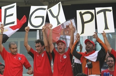 Egypt fans cheer their team, flashback 2008.AP-pix