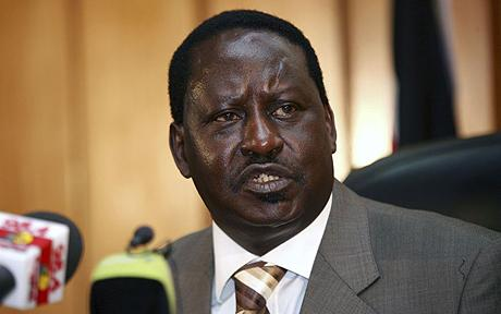 File pix: Kenya's former Prime Minister Raila Odinga addresses the media in Nairobi,  April 1, 2009. Reuters/Thomas Mukoya