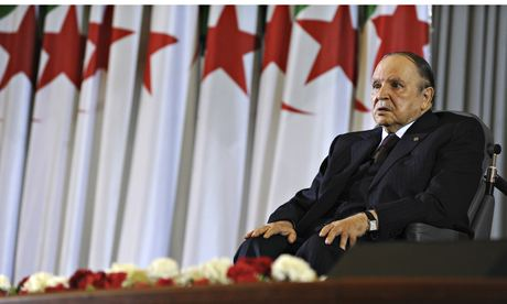 Algeria's 77-yrs old President Bouteflika sworn in for 4th term, sitting on wheel-chair