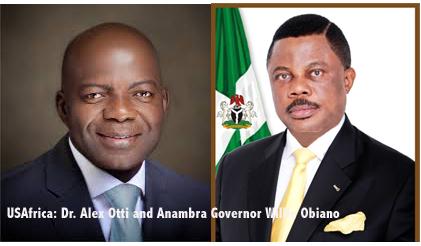 Anambra Gov. Obiano receives Abia APGA aspirant Dr. Alex Otti in Awka