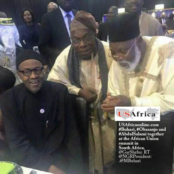 USAfrica: #Buhari, #Obasanjo and #AbdulSalami together at AU summit in South Africa