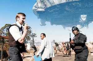 A scene from Sony's District 9 which loads on Nigeria's image as a corruption zone and ridicules Obasanjo. USAfricaonline.com